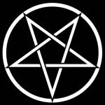 Пентаграмма, вписанная в круг